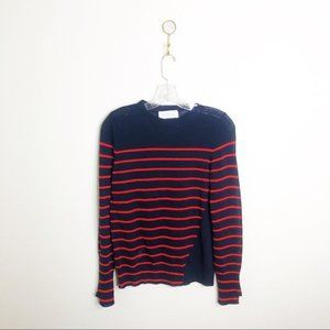ALC Striped Sheer Lightweight Sweater-Sz S